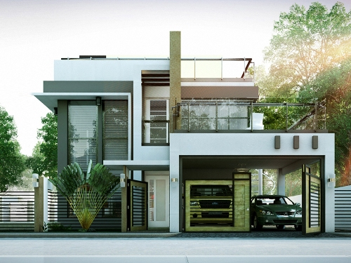 Contoh Rumah Minimalis 2 Lantai bernuansa modern