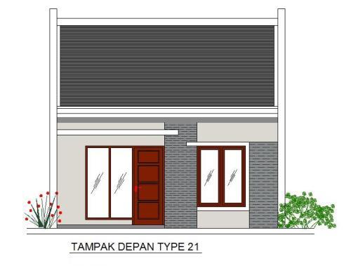 Contoh Sketsa Rumah Minimalis Tipe 21