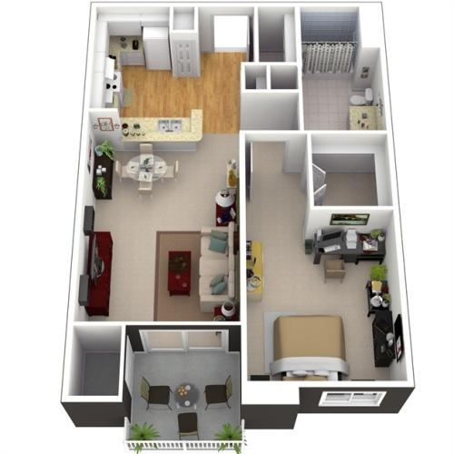 Contoh denah 3D rumah type 21