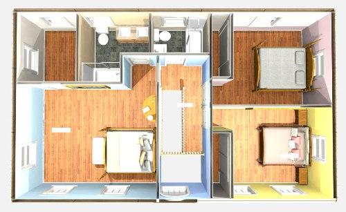 Contoh denah area privat di lantai 2