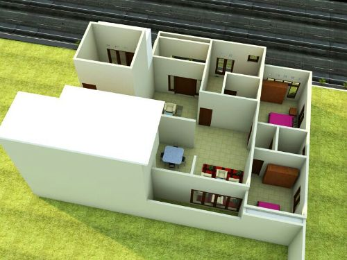 Contoh denah rumah minimalis idaman 2 lantai
