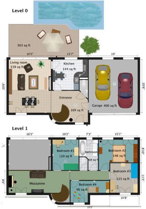 Contoh denah rumah minimalis type 36 73