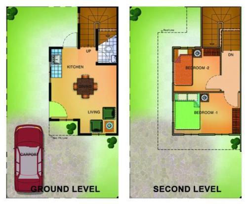 Contoh floor plan rumah minimalis 2 lantai sederhana