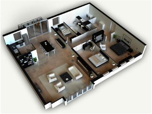 Contoh gambar denah rumah sederhana tapi elegan