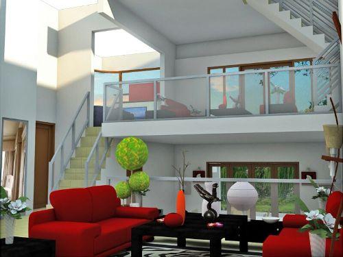 Contoh rencana interior rumah minimalis 2 lantai