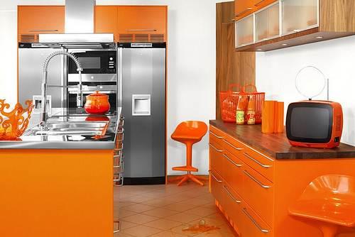 Dapur Minimalis Bernuansa Sitrus