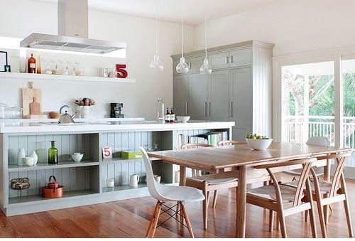 Dapur dan ruang makan minimalis terbuka