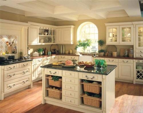 Desain dapur sederhana bernuansa country