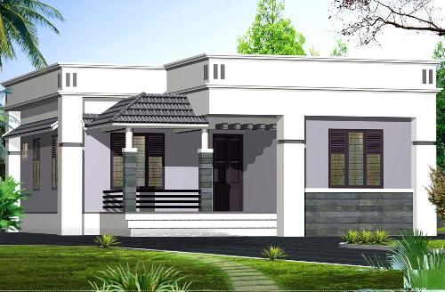 Desain rumah mewah 1 lantai bertema kontemporer