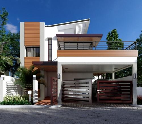 Fasad desain rumah mewah 2 lantai