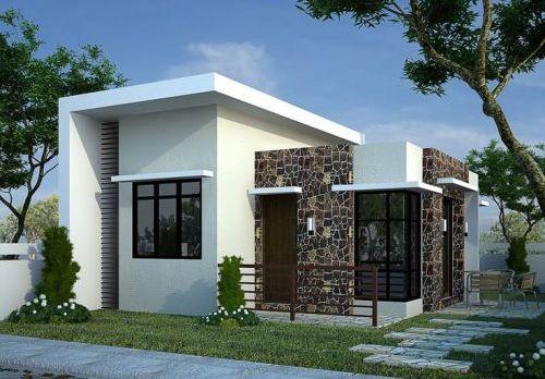 Fasad kontemporer pada Model Rumah Minimalis 1 Lantai