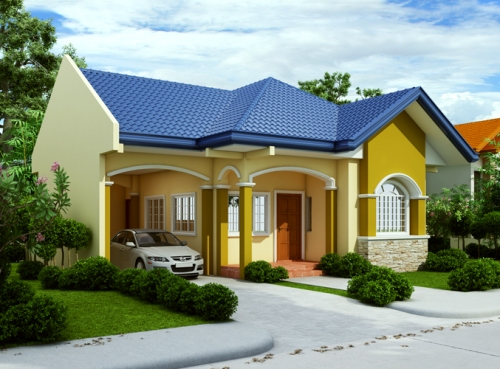 Fasad rumah minimalis modern 1 lantai dengan aplikasi batu alam
