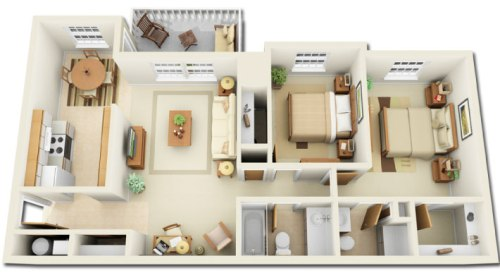 Fungsi ruang pada denah rumah minimalis 1 lantai