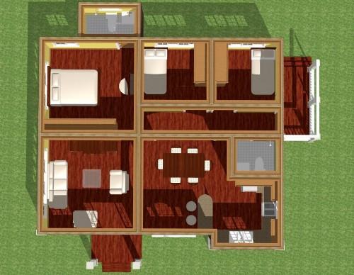 Gambar denah awal rumah sederhana 1 lantai