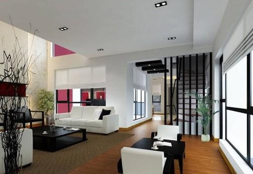 Interior rumah minimalis 2 lantai dengan tangga minimalis
