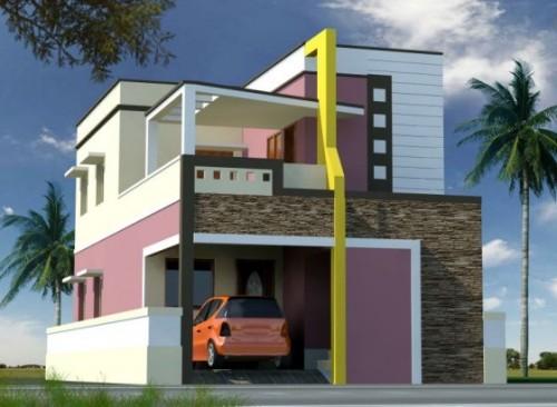 Model Rumah Tingkat Minimalis dengan balkon untuk menikmati pemandangan