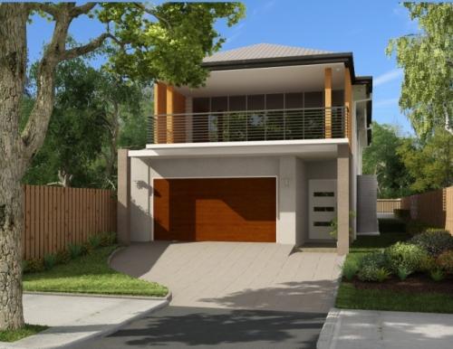 Rumah Minimalis Dua Lantai Dengan nuansa tropis