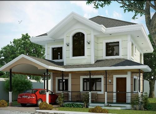 Rumah type 90 2 lantai dengan carport
