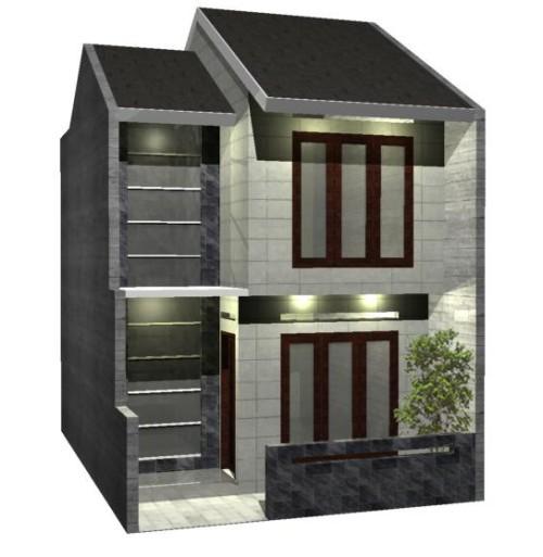 Sketsa 3-dimensi rumah type 21-72