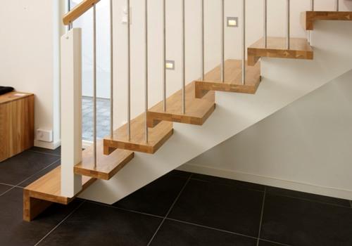 Tangga untuk Desain rumah minimalis 2 lantai type 36
