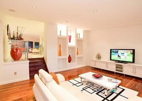 Warna pastel di interior rumah minimalis
