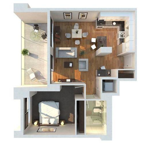 denah rumah minimalis sederhana 1 lantai type 36