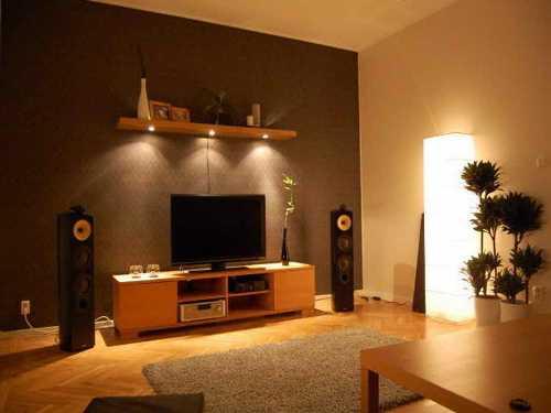 desain interior ruang tamu minimalis bernuansa hangat