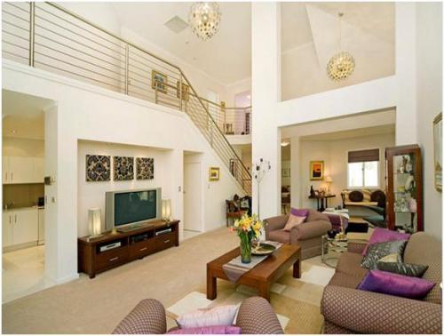 desain interior rumah mewah minimalis modern 2 lantai