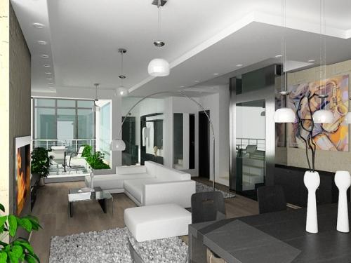 desain interior rumah minimalis modern dengan sekat minim