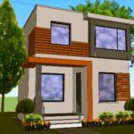 Desain Rumah Minimalis 2 Lantai Type 45 Asri Tanpa Taman