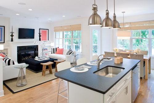 model rumah minimalis type 45 dengan interior terbuka