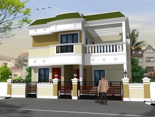 Cat eksterior rumah minimalis modern