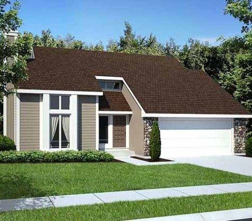 Eksterior rumah kecil minimalis bernuansa alami
