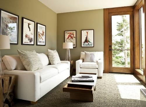 Interior Ruang Tamu Untuk Rumah Minimalis dengan Dekorasi lukisan