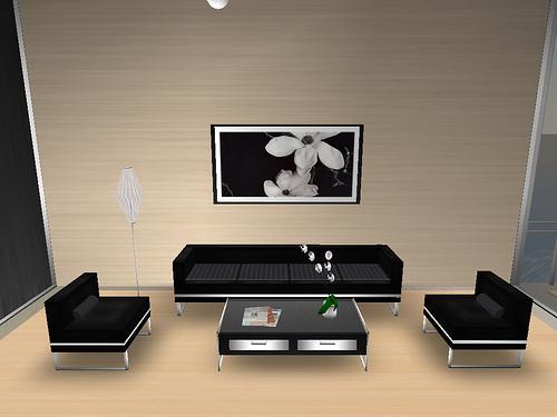 Interior bergaya jepang untuk ruang tamu mungil