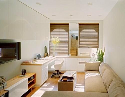 Ruang tamu minimalis bernuansa alami