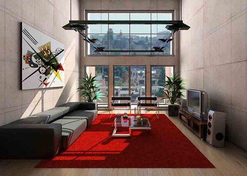 Ruang tamu mungil dengan furniture minimalis