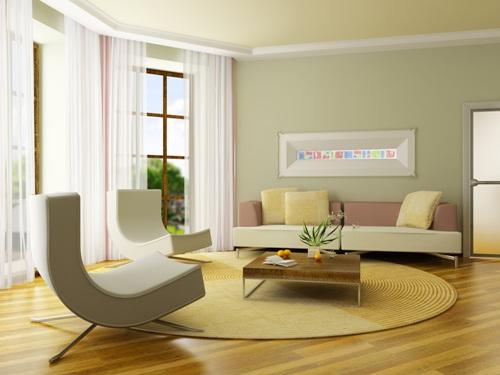 Ruang tamu mungil terkesan lapang dengan furniture minimalis