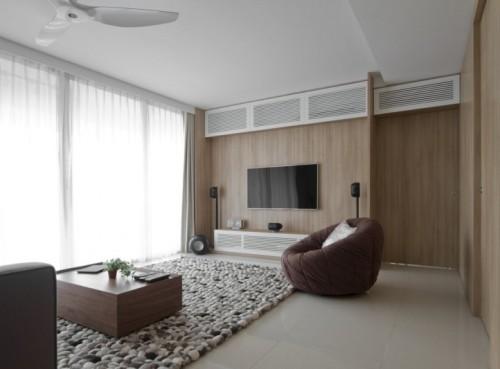 Ruang tamu sederhana bernuansa modern