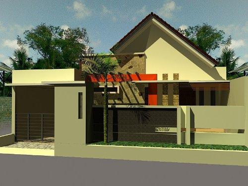 Rumah minimalis dengan atap model pelana yang unik