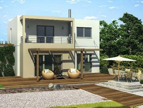 Rumah minimalis lantai 2 bernuansa villa
