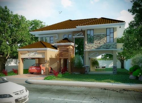 contoh foto Rumah minimalis lantai 2