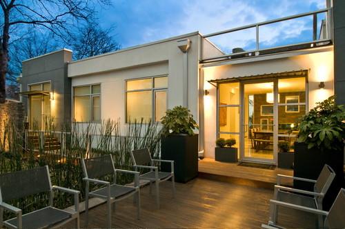 contoh rumah minimalis 1 lantai dengan decking