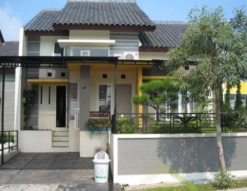 desain eksterior rumah shabby chic mungil type 36 desain