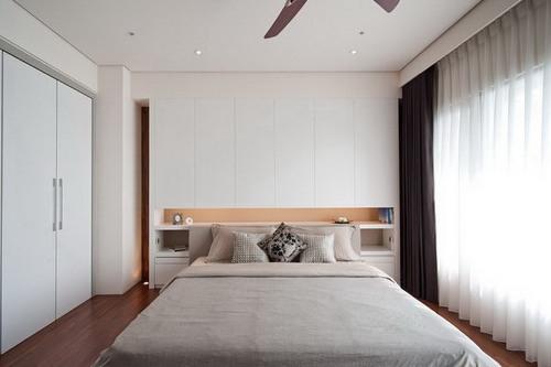 dekorasi kamar tidur minimalis dengan warna cerah