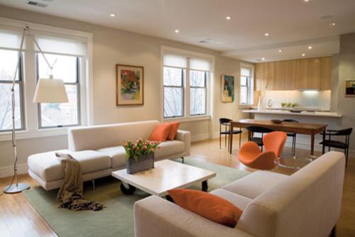 dekorasi rumah minimalis type 36 atau 45 dengan open plan