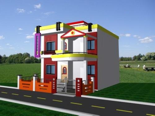 eksterior rumah bergaya modern dan kontemporer