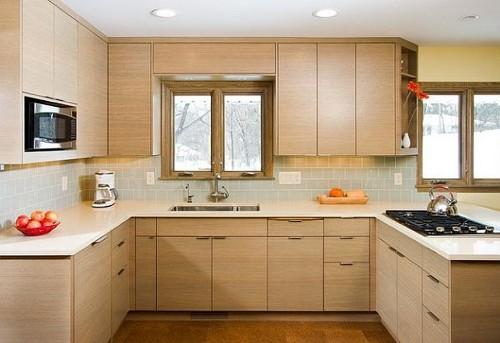 interior dapur minimalis lembut dan menyenangkan