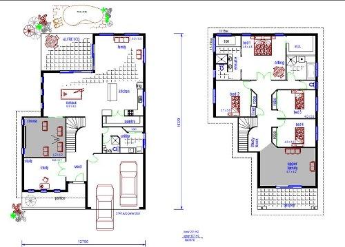 Contoh sketsa desain rumah minimalis 2 lantai