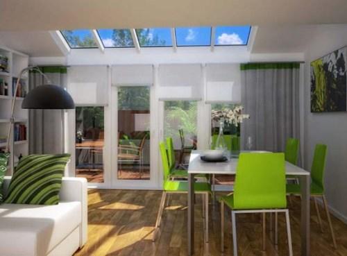 Interior rumah minimalis bernuansa lapang dengan cat berwarna terang
